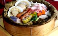 山の幸海の幸と彩り野菜